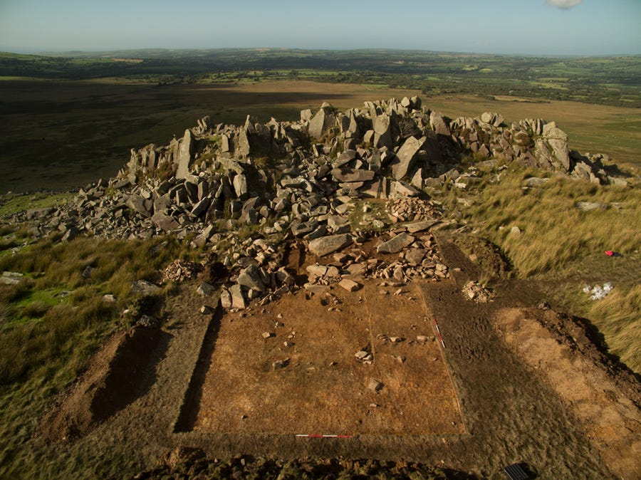 The Stonehenge quarry, in the Preseli hills in Pembrokeshire, west Wales.