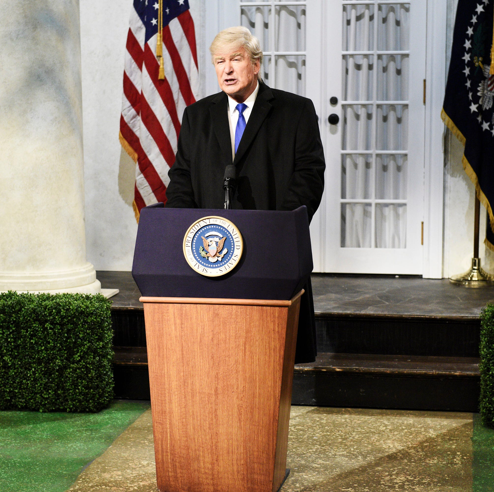 """""""You all see why I have to fake this national emergency, right?"""" Alec Baldwin said at the top of """"Saturday Night Live"""" on Feb. 16, mocking President Trump's Rose Garden speech announcing his latest gambit to get his border wall. """"I have to because I want to."""" The skit irked the real occupant of 1600 Pennsylvania Avenue, who tweeted, """"THE RIGGED AND CORRUPT MEDIA IS THE ENEMY OF THE PEOPLE!"""""""