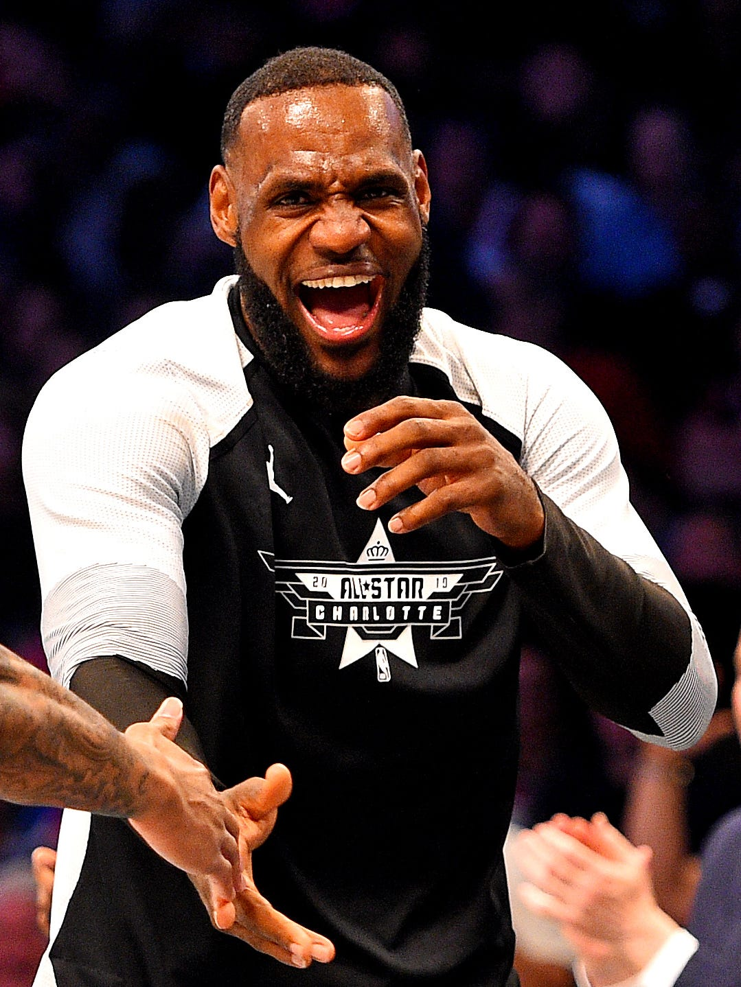 LeBron James soaked up the All-Star Game atmosphere.
