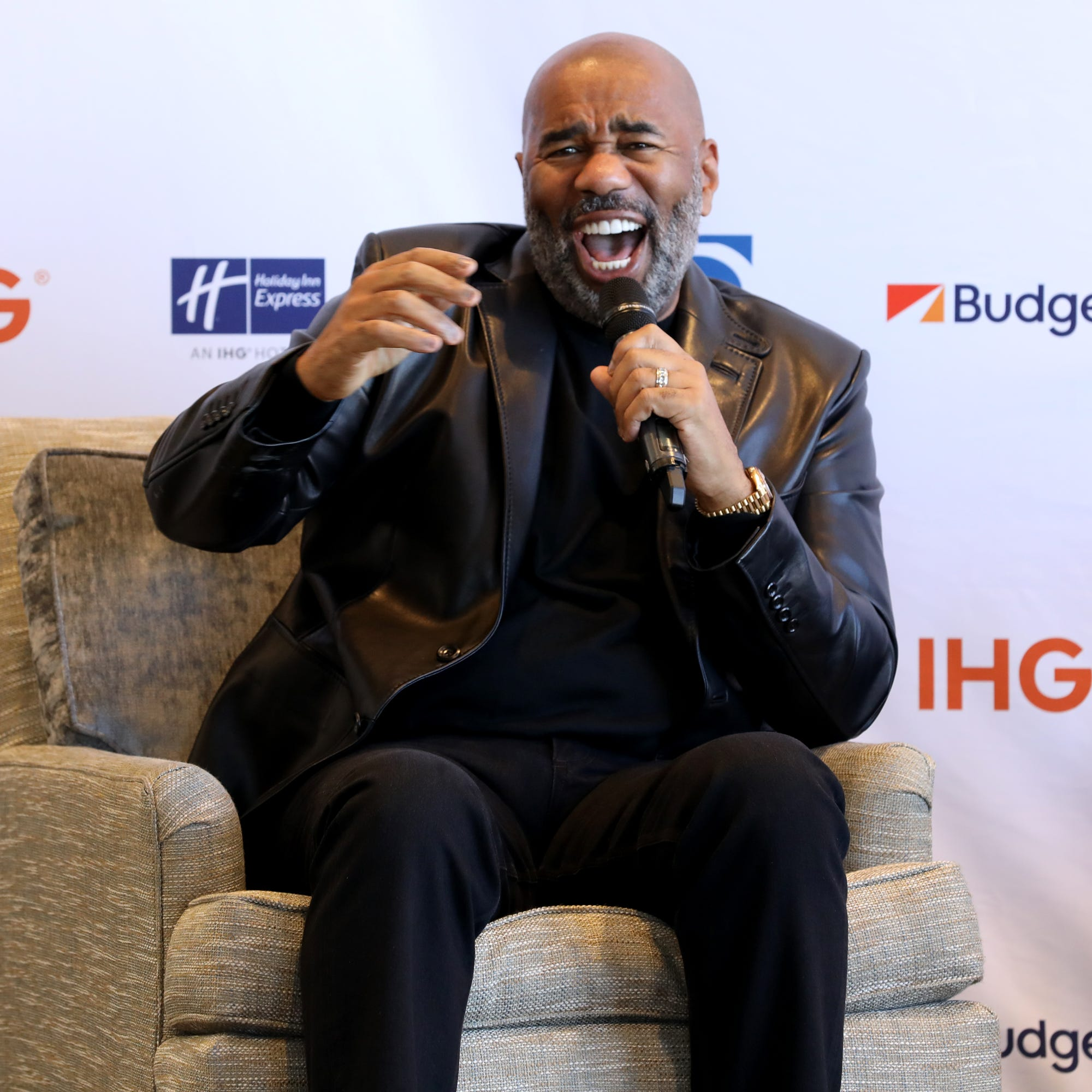 """Steve Harvey says his on-air spat with Mo'Nique has taught him that he """"can't get into heated discussions"""" and to choose his words more carefully."""