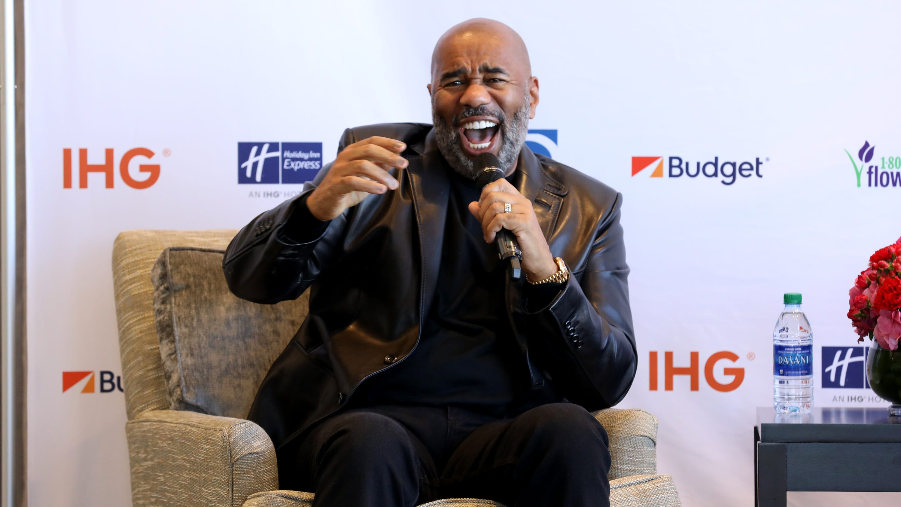 "Steve Harvey says his on-air spat with Mo'Nique has taught him that he ""can't get into heated discussions"" and to choose his words more carefully."