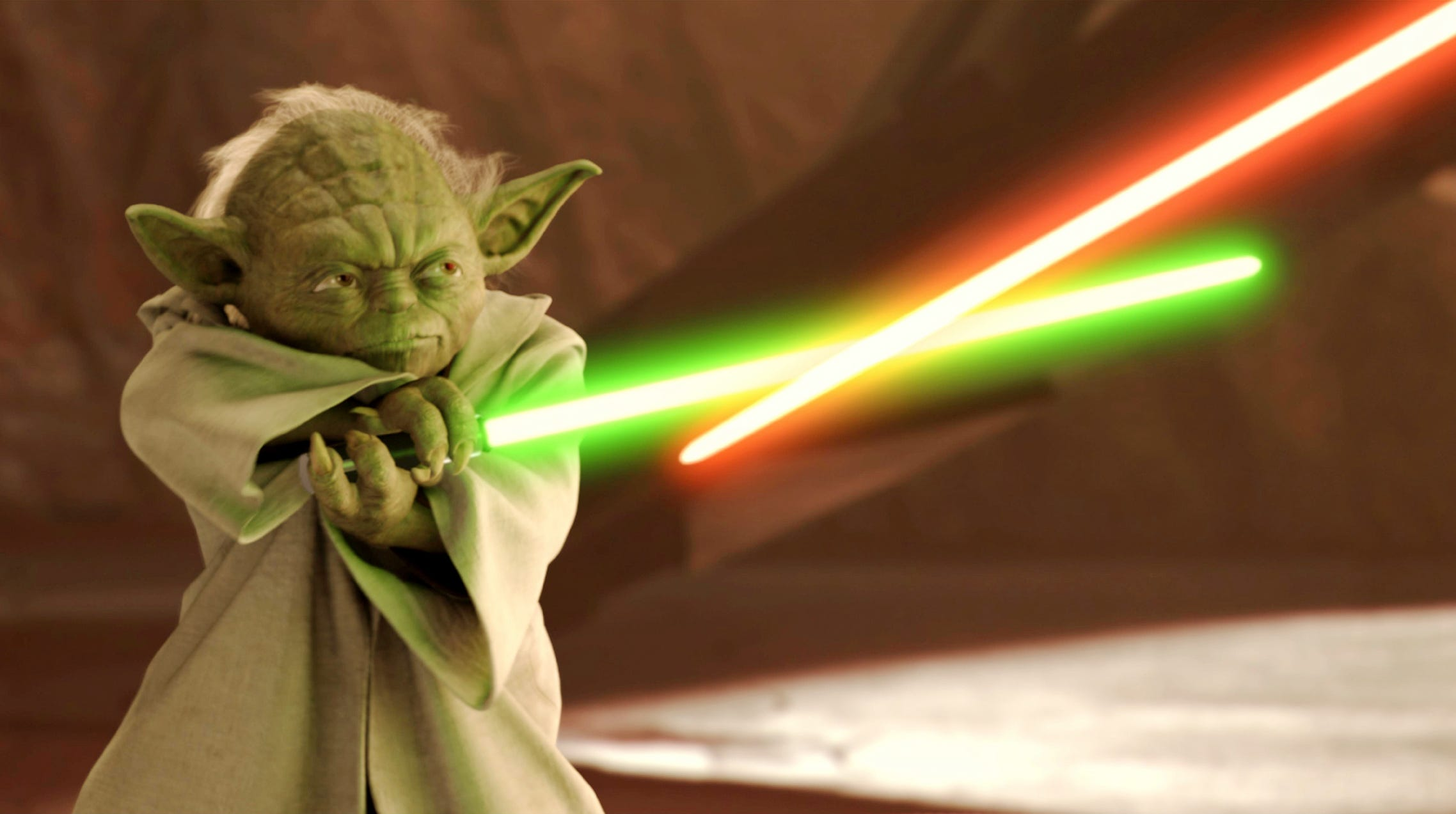 """Yoda shows how it's done in """"Star Wars II: Attack of the Clones."""""""