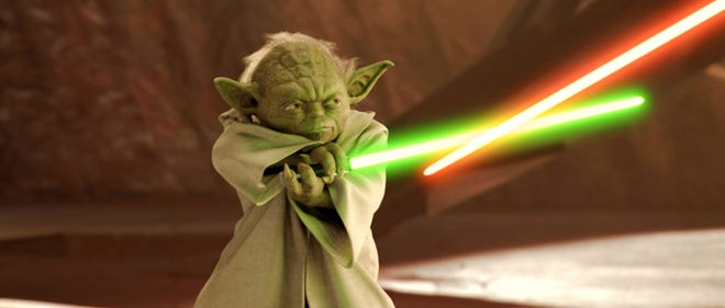 "Yoda shows how it's done in ""Star Wars II: Attack of the Clones."""