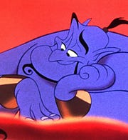 "Robin Williams' Genie in 1992's animated ""Aladdin"" is a tough act to follow."