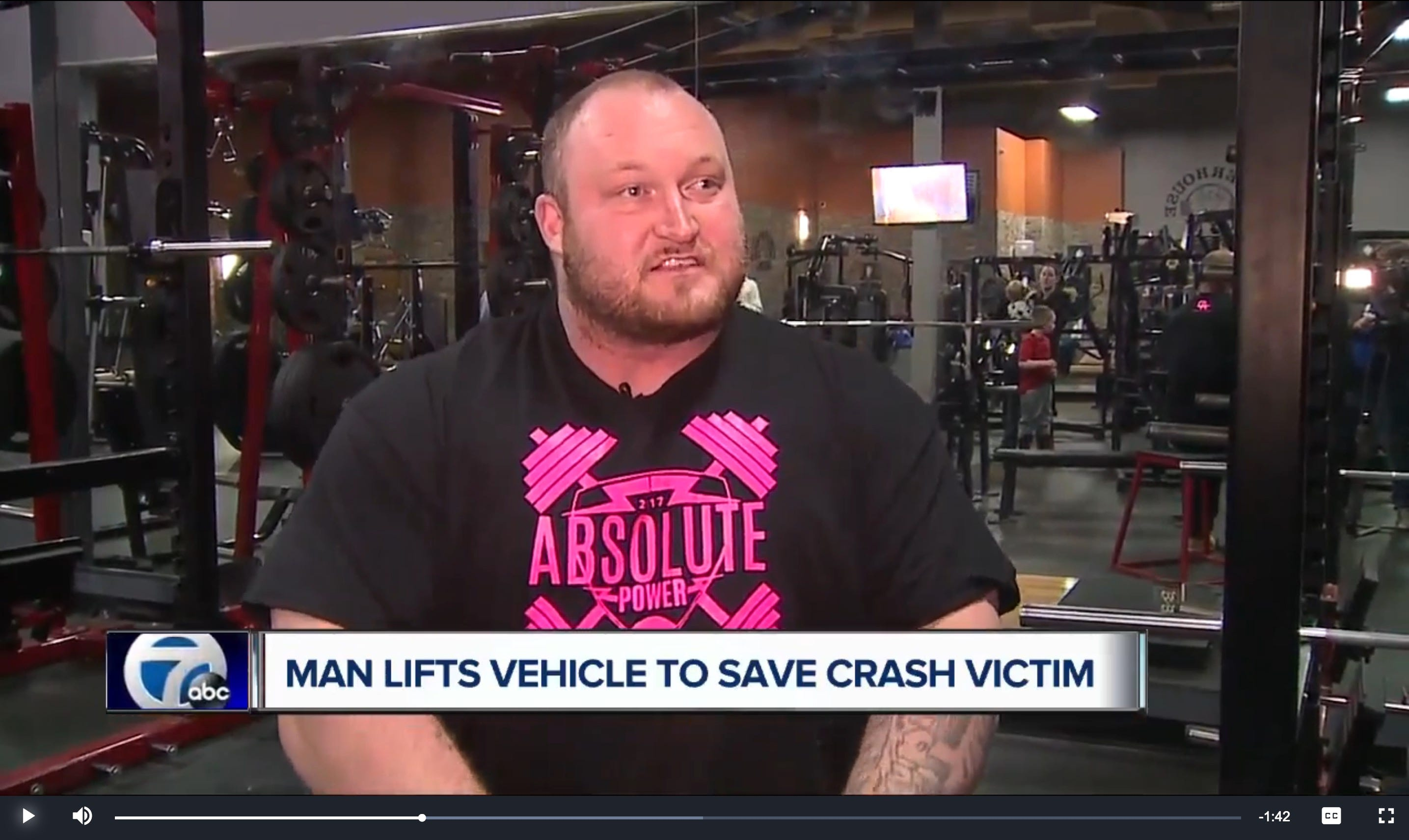 Powerlifter recounts freeing man pinned by two-ton SUV