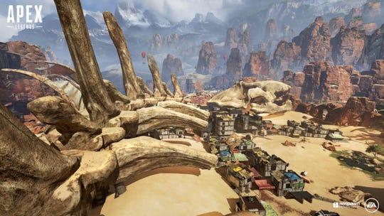 Skull Town, a part of the island map in Apex Legends.