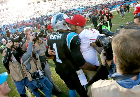 Would Colin Kaepernick (7) be well suited as Cam Newton's backup in Carolina?