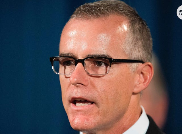 Federal prosecutors recommend that Andrew McCabe, former FBI second-in-command, face criminal charge