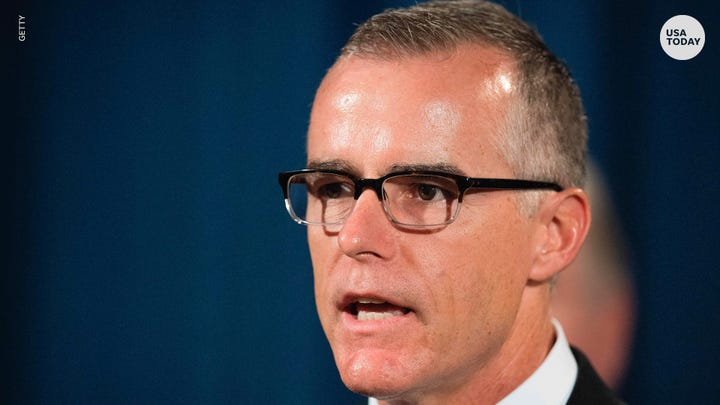 "During an interview on ""60 Minutes,"" former acting FBI Director Andrew McCabe  hints at ""inappropriate relationship"" between Trump and Russia."