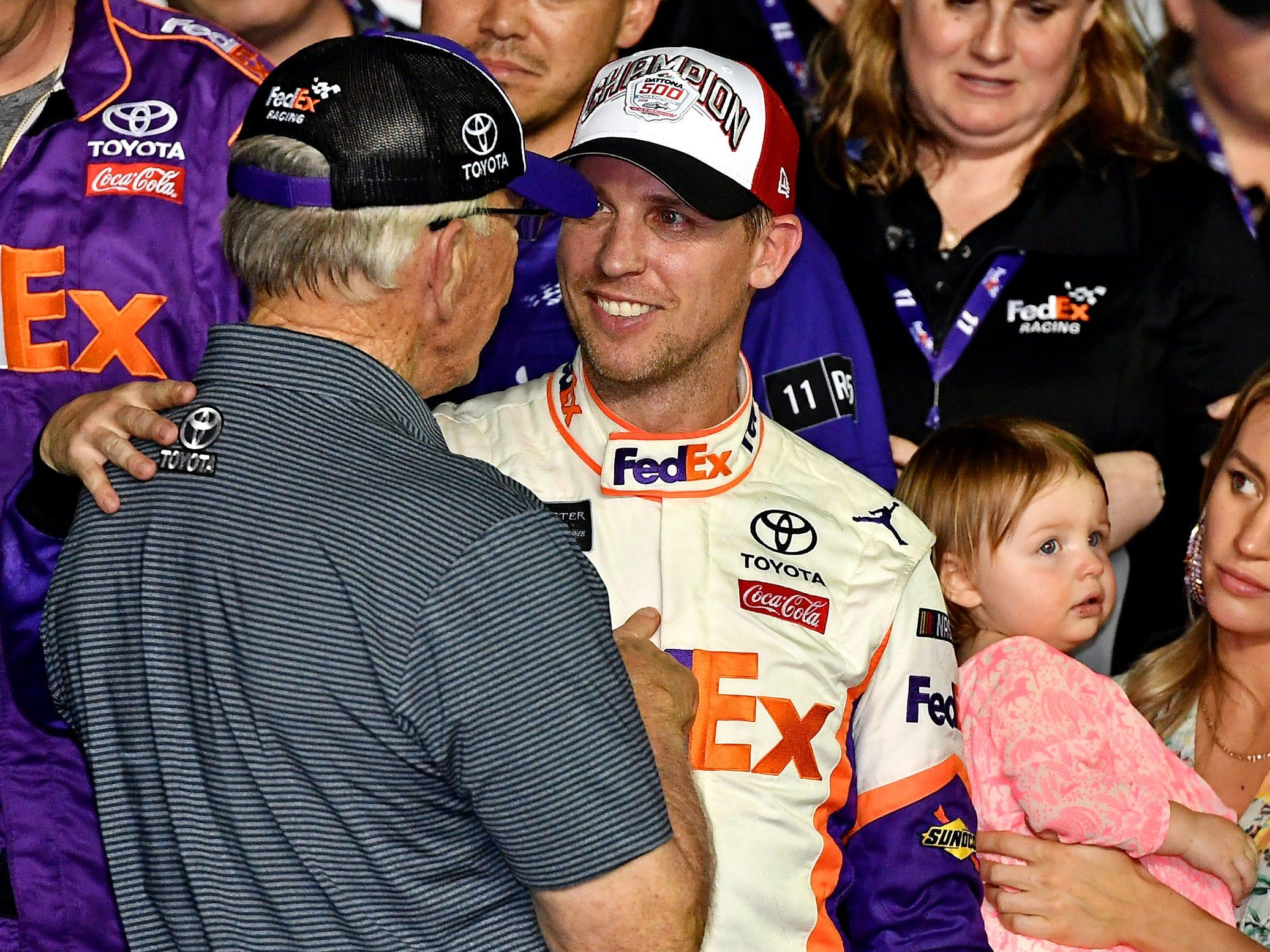 Joe Gibbs calls Denny Hamlin's Daytona 500 victory his 'most emotional' and 'biggest win'