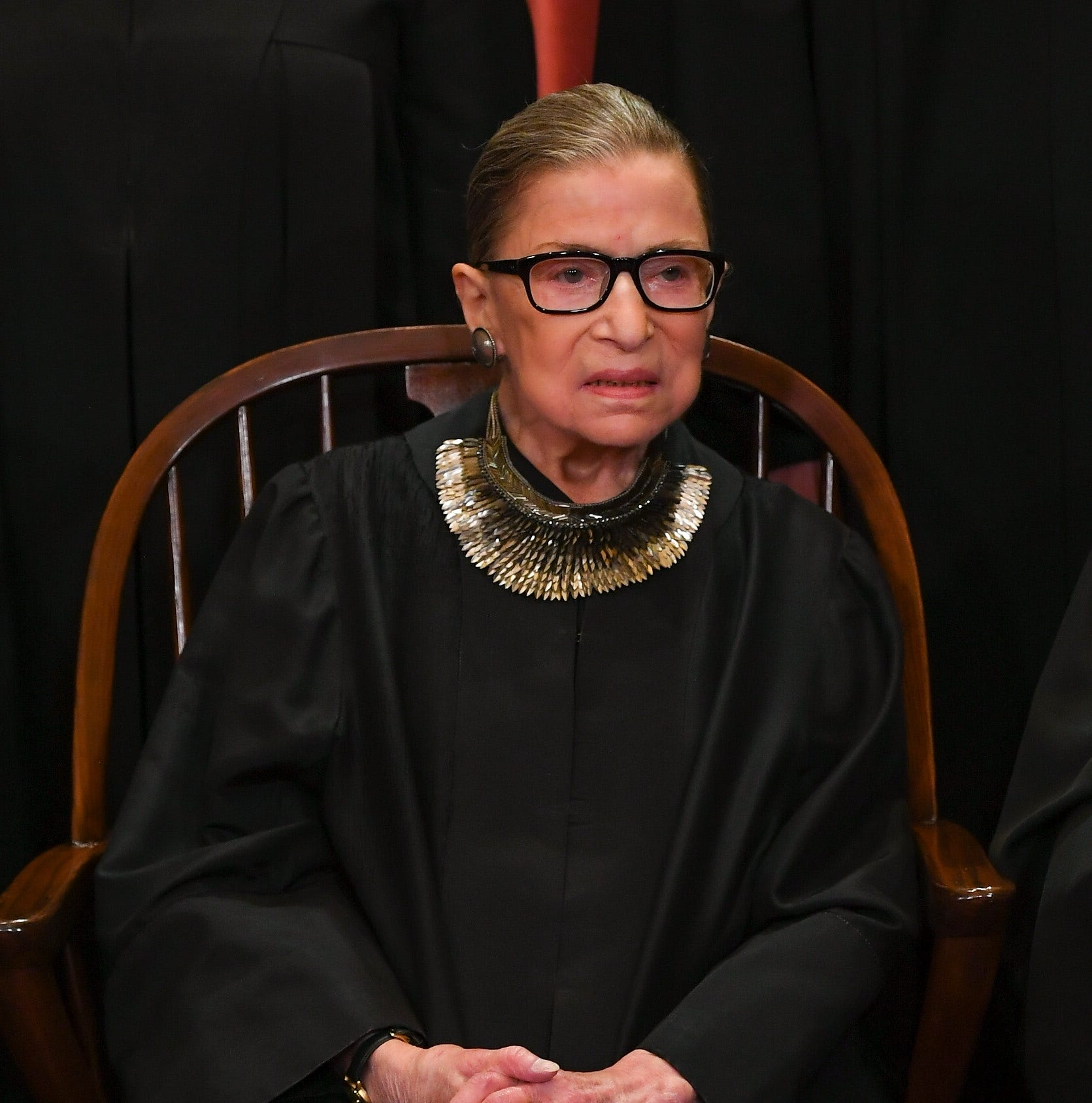 Justice Ruth Bader Ginsburg returns to Supreme Court bench two months after surgery for lung cancer