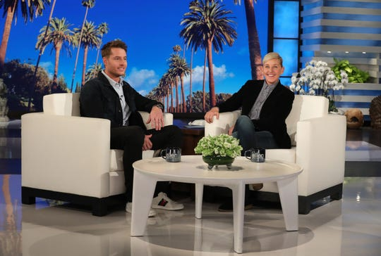 "Justin Hartley appears on ""The Ellen DeGeneres Show"" Monday and reacts to those James Bond rumors."