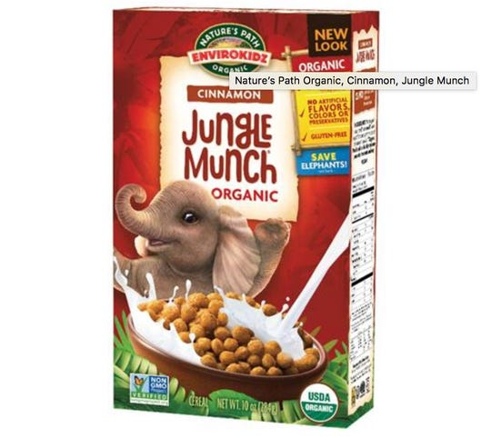 Nature's Path Foods is recalling more than 400,000 boxes of cereal including  Jungle Munch because they may contain undeclared gluten (wheat and barley).