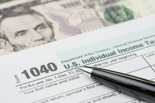 An individual income tax filling form.