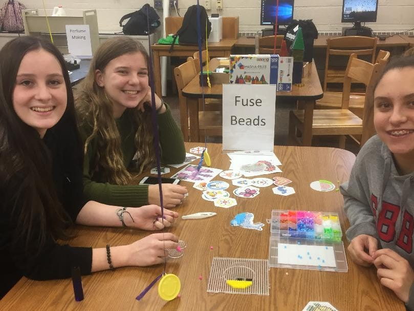 Southern Regional High School held its second MakerSpace event on Feb. 12, 2019, where more than 80 students created and invented their own products.