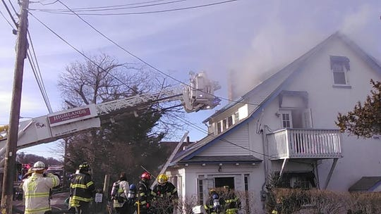 Firefighters battled a house fire in Highlands Feb. 19.