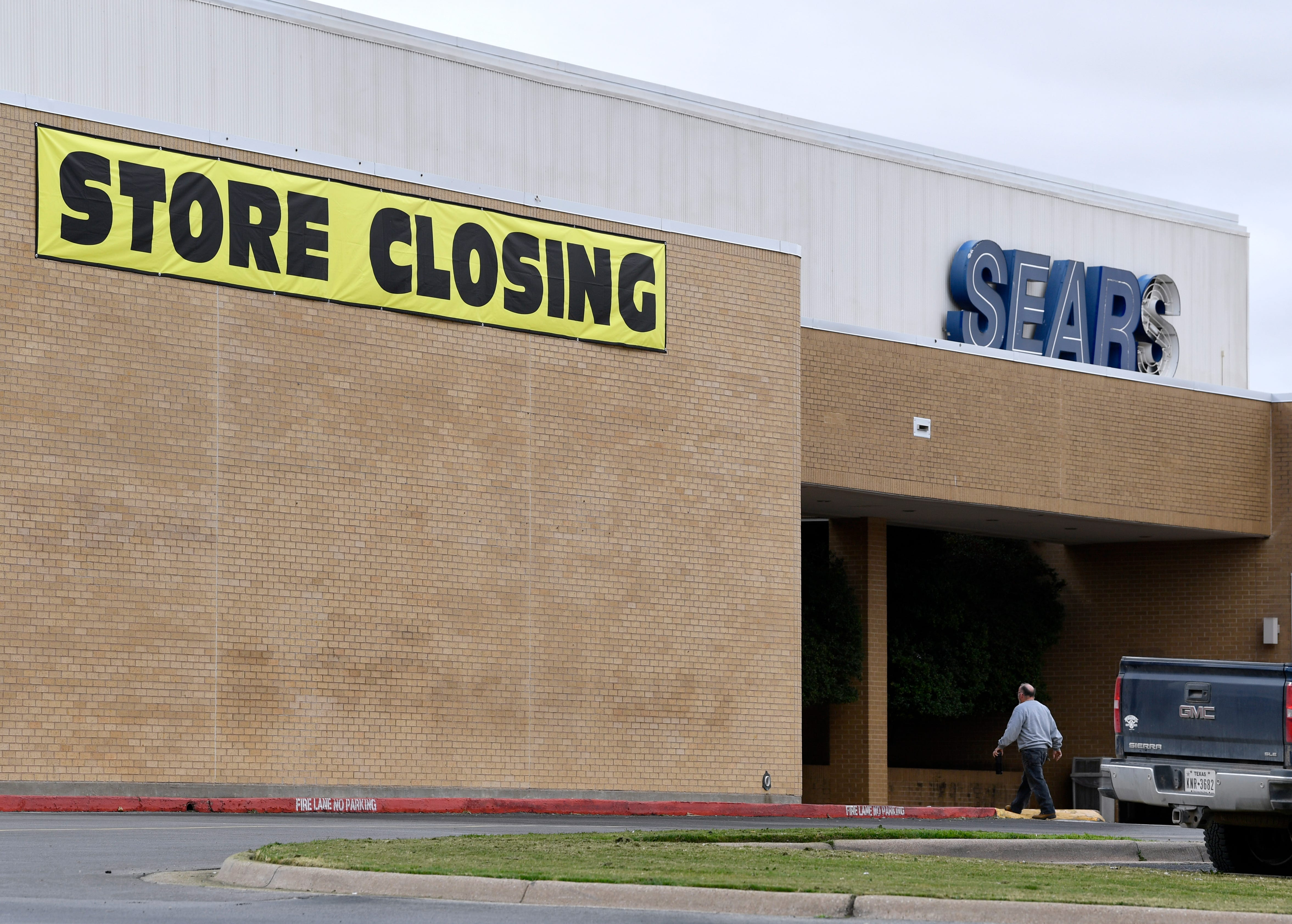 A man walks into Sears on Feb. 1 at the Mall of Abilene.
