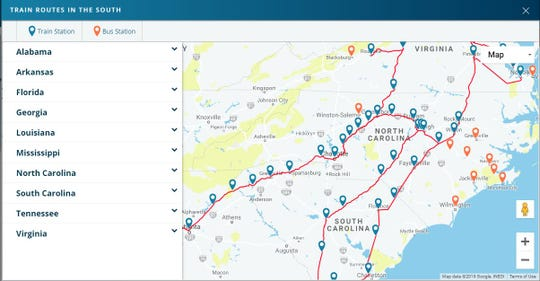 Amtrak Nc Map.Asheville Passenger Rail Connection After 43 Years Has Chance Again