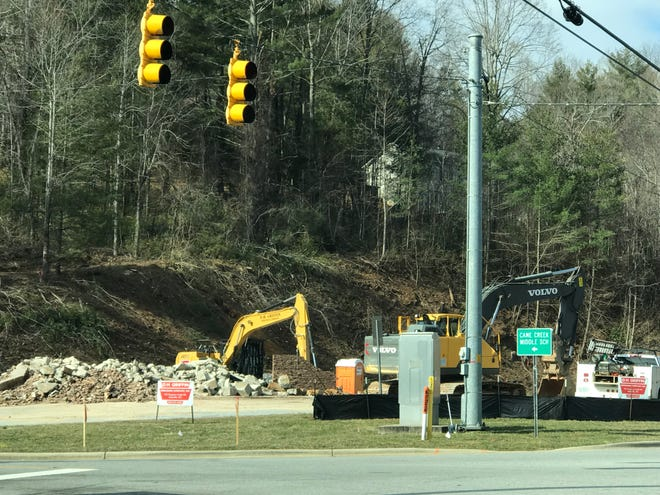 A new Dollar General store is being built at the corner of Charlotte Highway and Cane Creek Road.