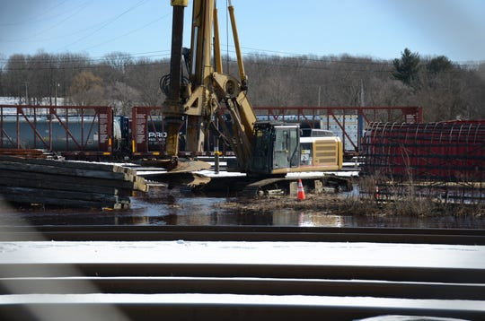 Crews working on CN Railroad property just east of the Verona Pumping Station broke a 30 inch water line on Tuesday.