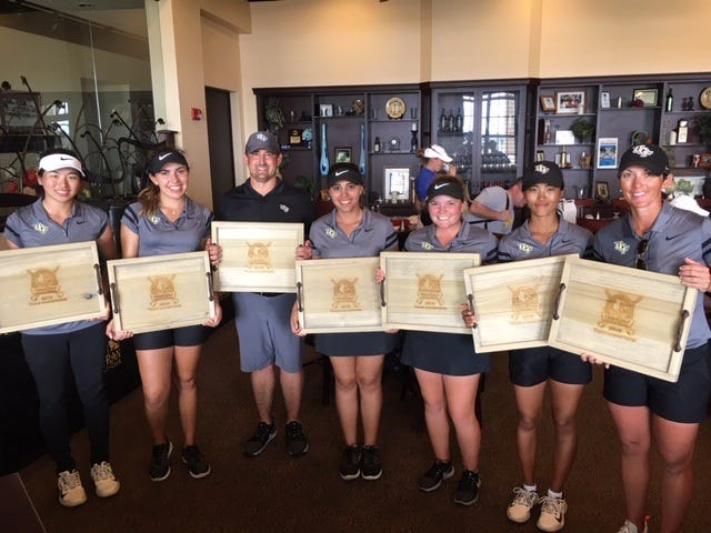 UCF's women's golf team cruised to the win at the Moon Golf Invitational held at Duran Golf Course in Viera.