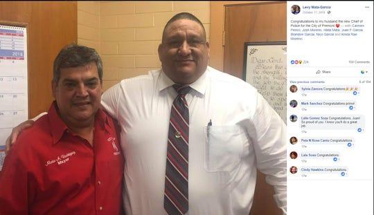 Premont Mayor Mario Rodriguez and Police Chief Juan Garcia.