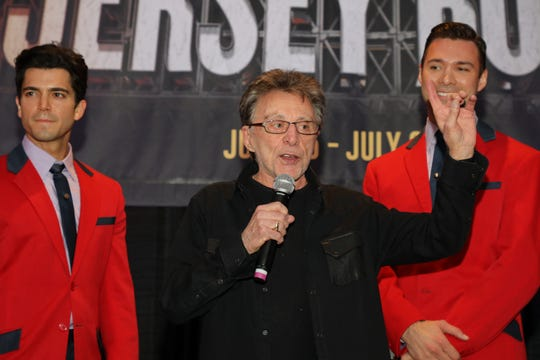Frankie Valli joins the cast of The Jersey Boys for the announcement of their four-week engagement this summer at Hard Rock Hotel & Casino in Atlantic City.