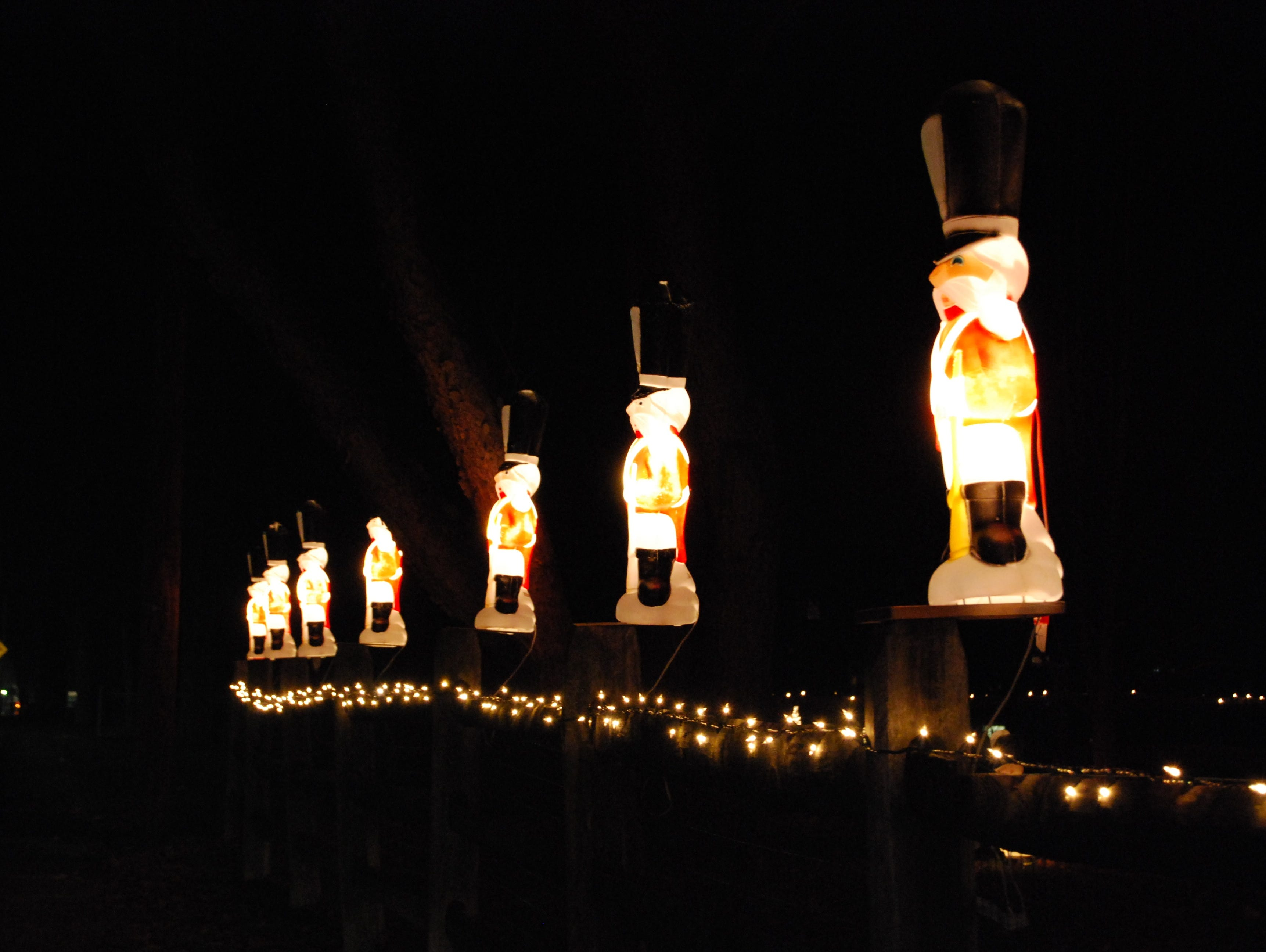 These figures stood guard on the fenceposts at Roy Dixon's Christmas display at 2451 W. Galbraith Road. He used to also have a huge display when he lived on Brownsway nearby.