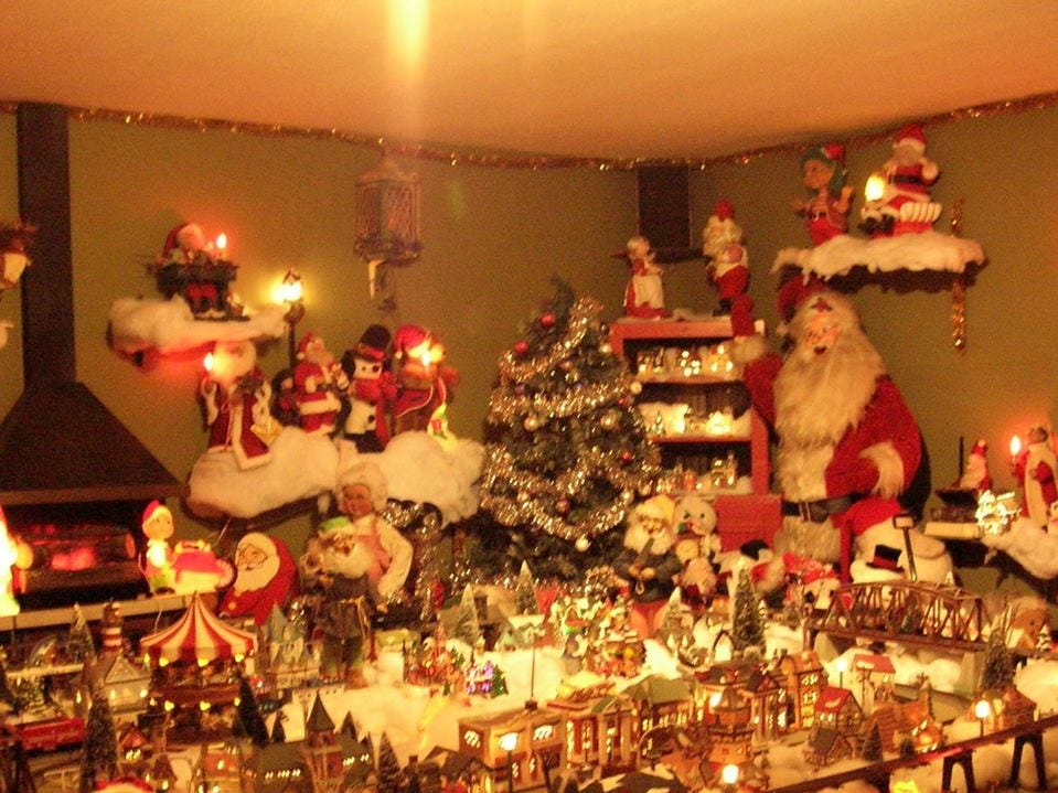 Roy Dixon had a number of moving figures inside his Santa's Workshop display at his home on West Galbraith Road.