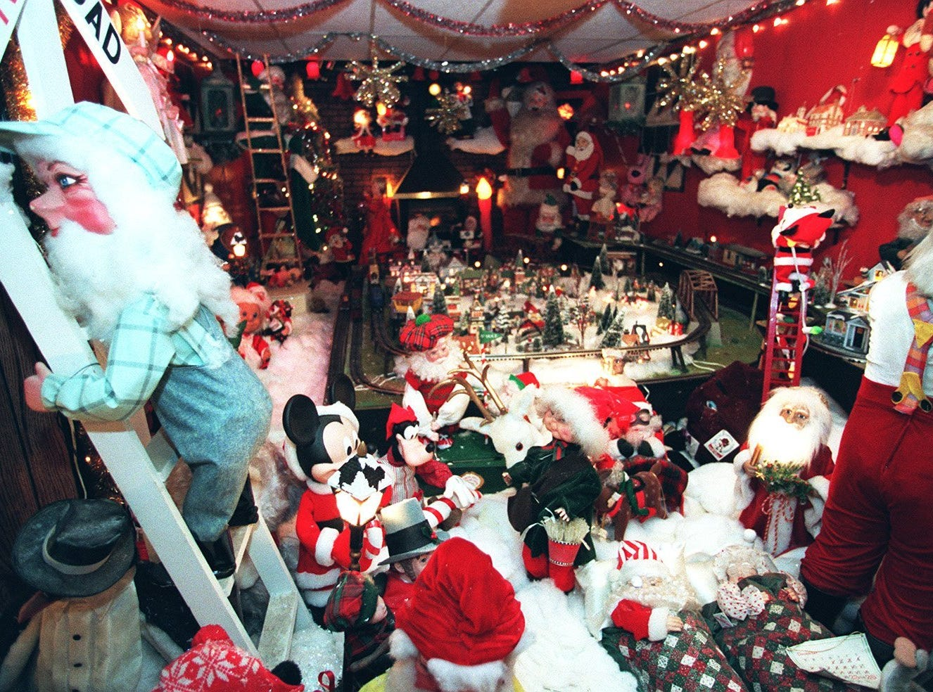 The display of automated figuresin Santa's Workshop at Roy Dixons home was a popular stop for families.