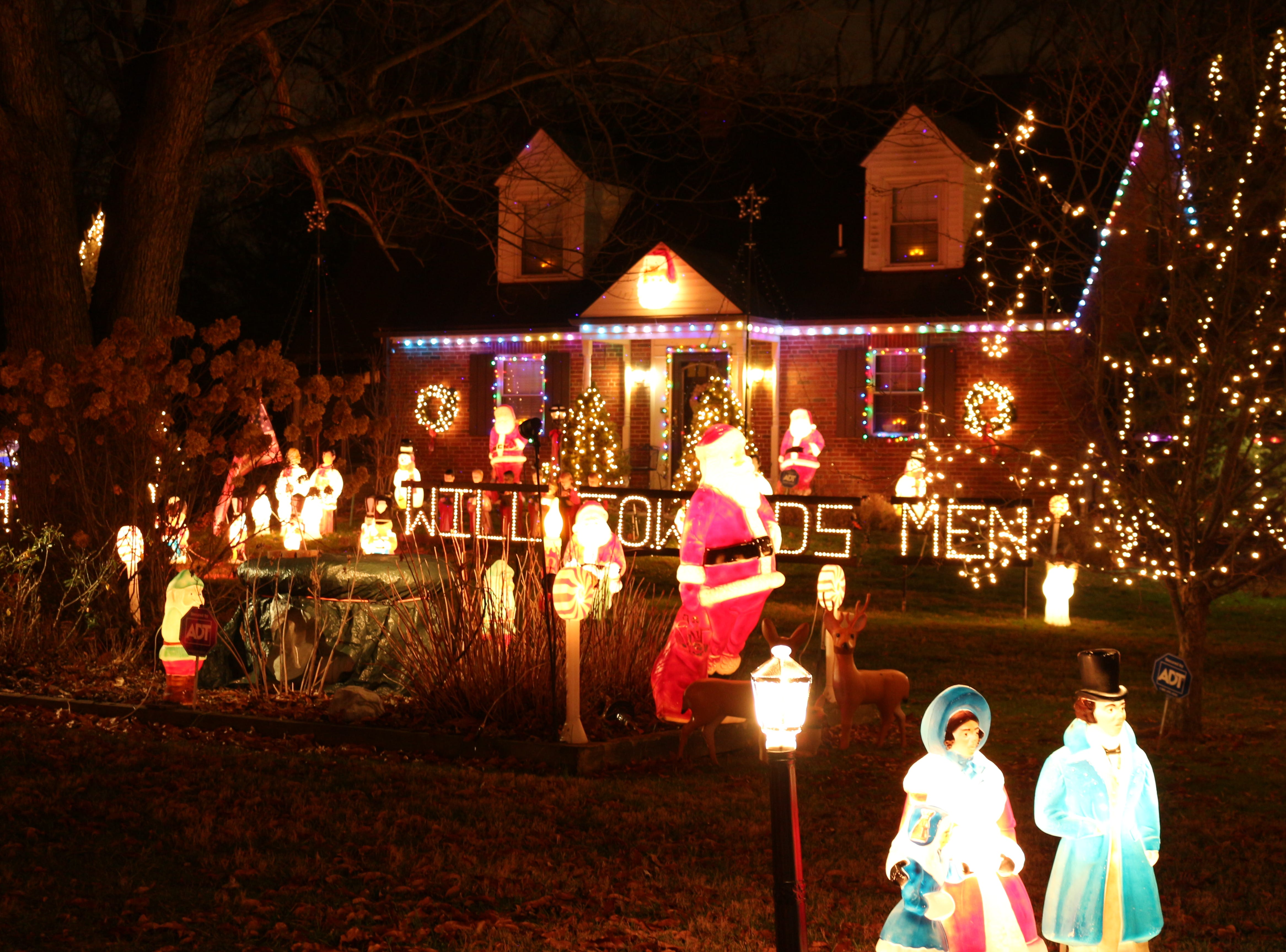 "Santas, carolers, angels, reindeer, gingerbread men and nativity figures all lived peacefully in Roy Dixon's annual Christmas displays.""Half the fin is coming up with ideas. I try to make it appeal to kids and adults,"" he once told a reporter."