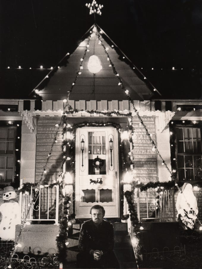 In 1978, Roy Dixon said he liked to sit and watch the people who pause to watch his outdoor Christmas display.