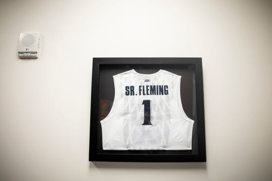Sr. Rose Ann Fleming's jersey was retired in 2014. It hangs in the rafters of the Cintas Center. Another framed jersey hangs in her office. She was inducted into the Xavier University Athletic Hall of Fame in 2000. She also has a commemorative bobblehead.
