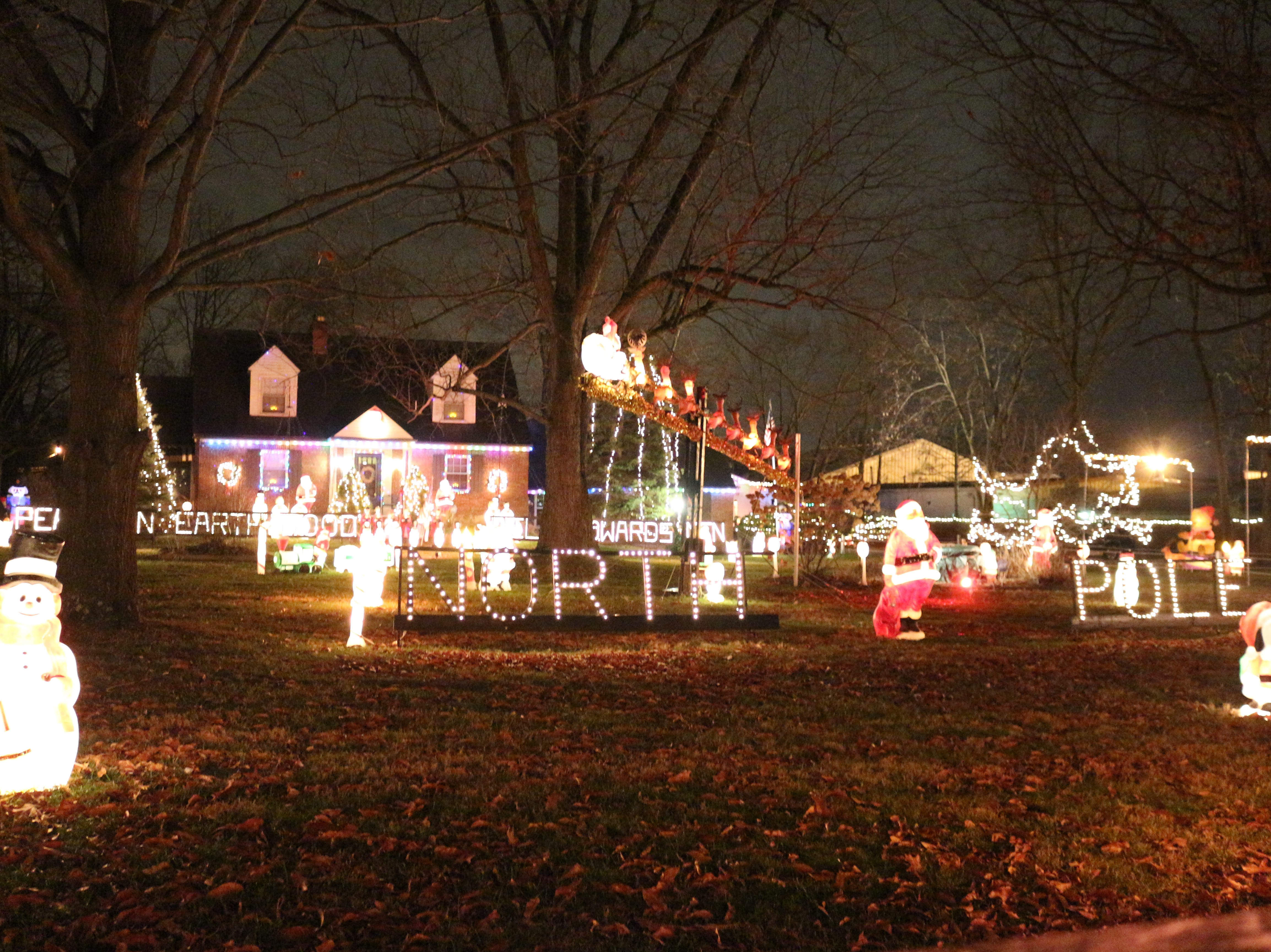 The larger yard on Galbraith Road allowed Roy Dixon to add to his collection of Christmas decorations and spread out the display.
