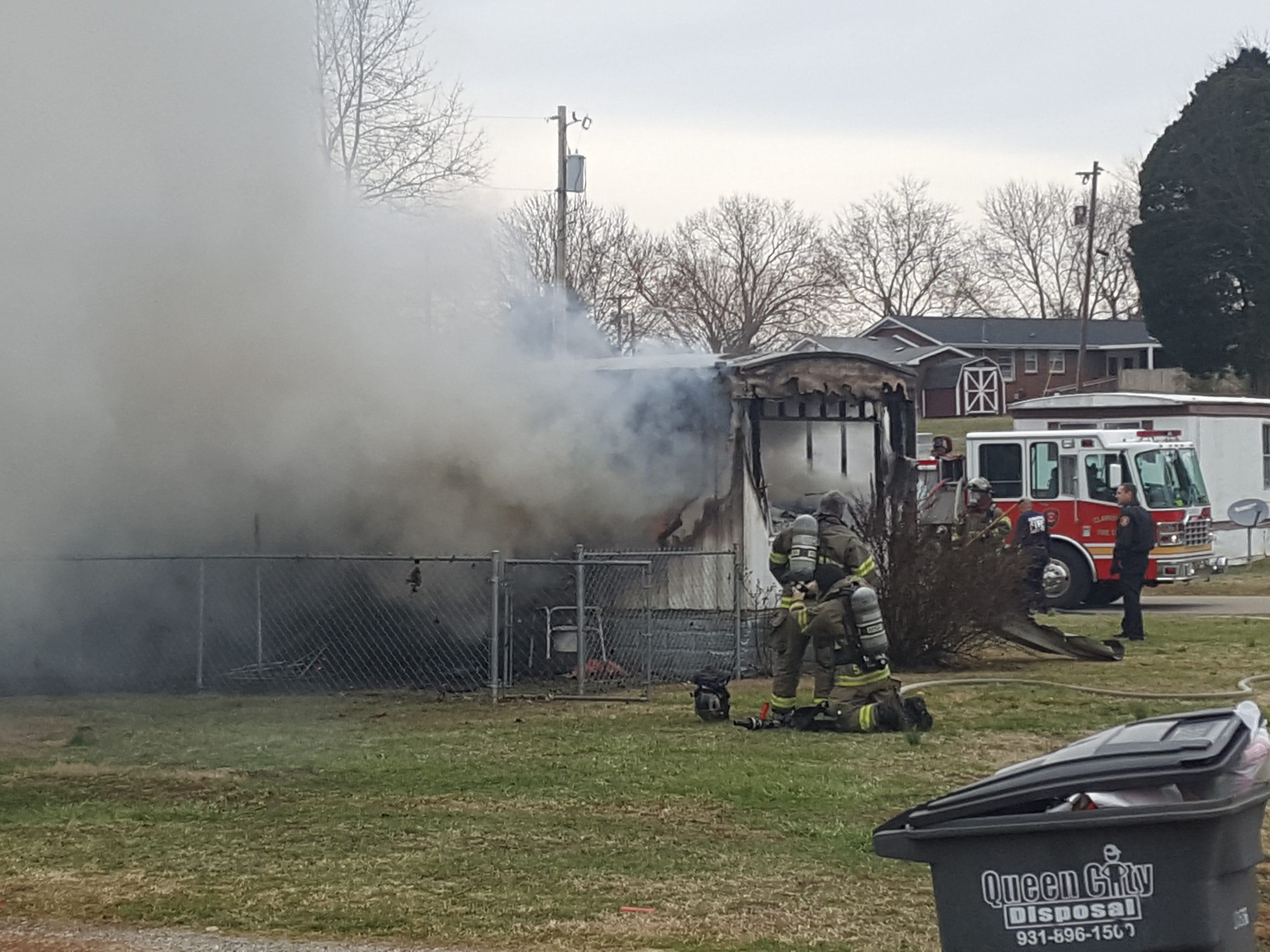 This mobile home at 202 Notgrass Road was destroyed in a fire Feb. 19, 2019.