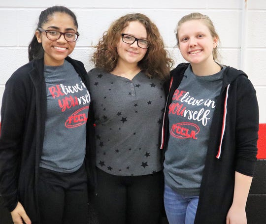Krushi Patel, Lillian Whitcomb and Taeler Murray are members of the FCCLA Club at Coshocton High School. One of the club's goals is to education the community about their club, as well as encourage participation.