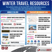 The Iowa Department of Transportation has a number of resources to help keep commuters safe during winter storms.