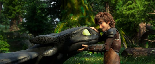 "Toothless the dragon, left and Hiccup, voiced by Jay Baruchel, in  ""How to Train Your Dragon: The Hidden World."""