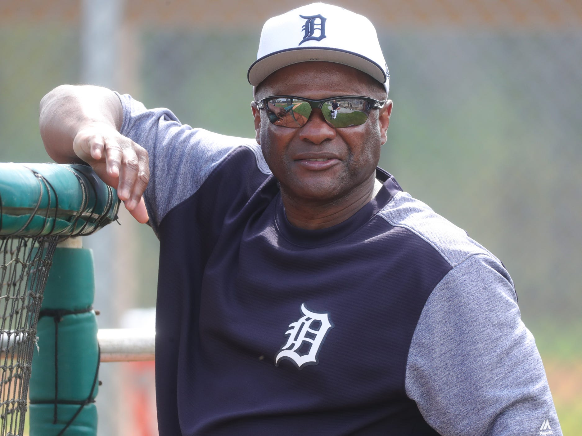 Detroit Tigers coach Lloyd McClendon on the field for the first full team practice Monday, Feb. 18, 2019 at Joker Marchant Stadium in Lakeland, Fla.