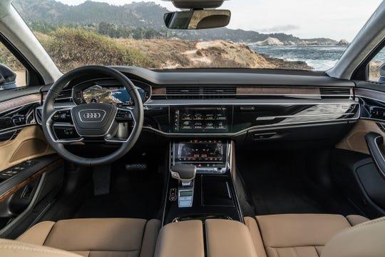 2019 Audi A8 interior.