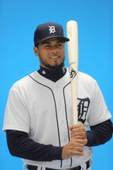 The Detroit Tigers held their picture day in Lakeland Florida.