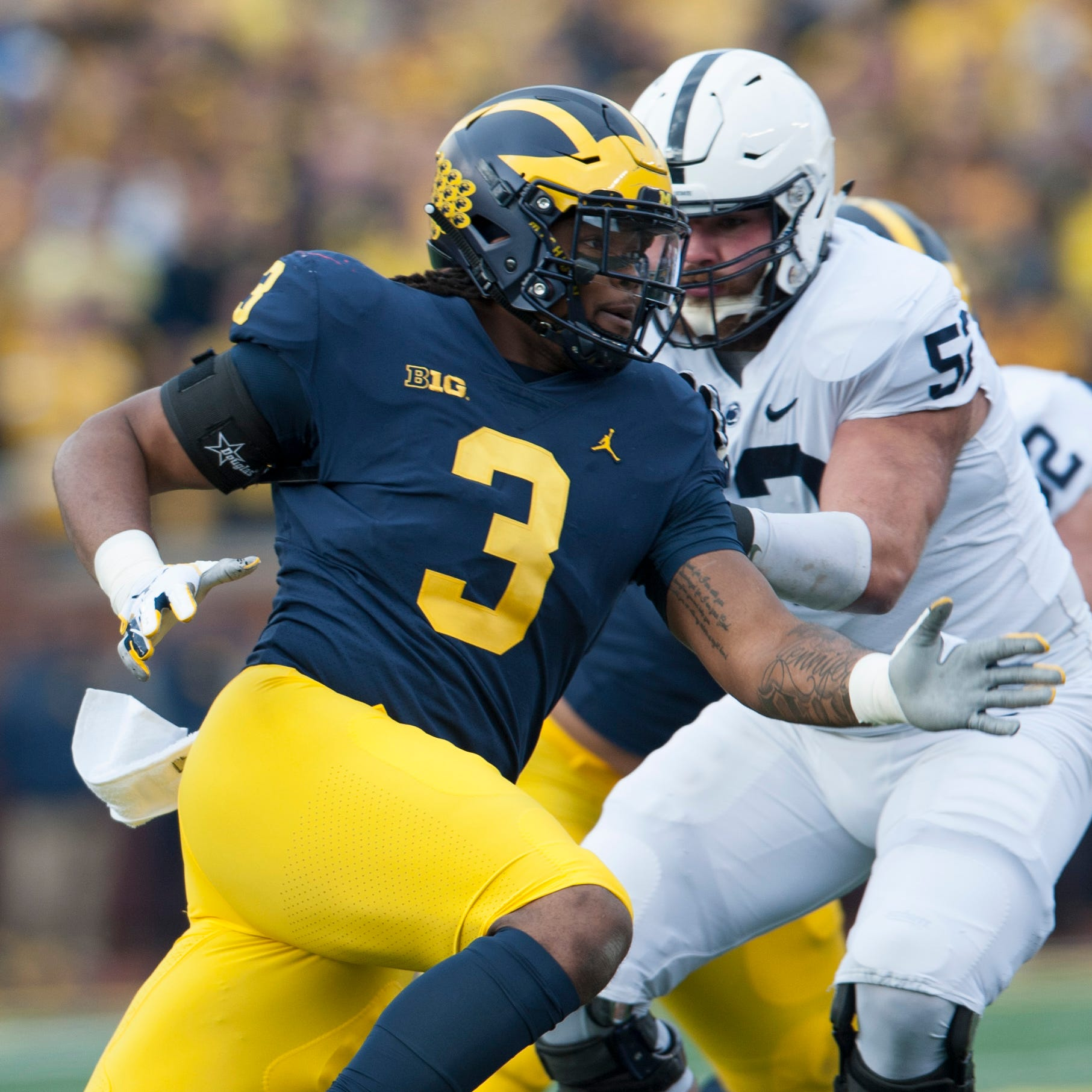 Kiper: Ex-Michigan standout Rashan Gary must be 'freak' to warrant high pick in NFL Draft