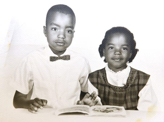 Clifford Worthy's two oldest children, Mark and Kym. The latter would grow up to become Wayne County prosecutor.