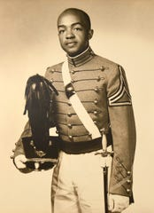 Clifford Worthy as a West Point cadet in a 1953 photo.