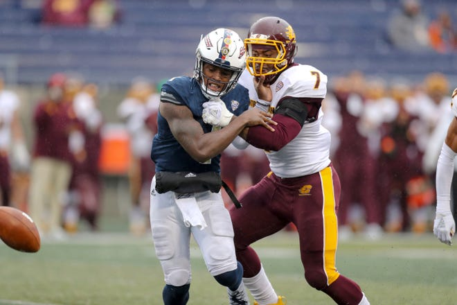 Former Central Michigan defensive lineman Mike Danna (7) is joining Michigan as a graduate transfer.