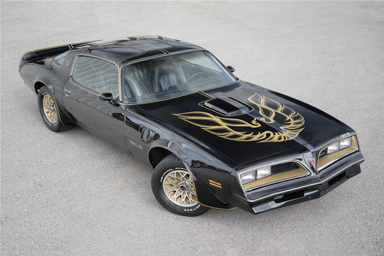 "The original Pontiac Firebird Trans Am from the 1977 Burt Reynolds movie 'Smokey and the Bandit"" had a Confederate flag on the front license plate."
