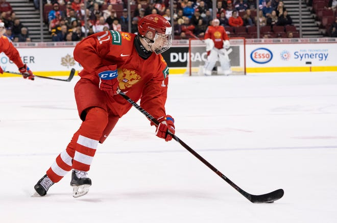 Chris Peters of ESPN projects the Red Wings to take Russian winger Vasili Podkolzin at No. 4 overall in his NHL mock draft.