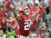 Oklahoma running back Rodney Anderson saw his final season cut short by a knee injury.