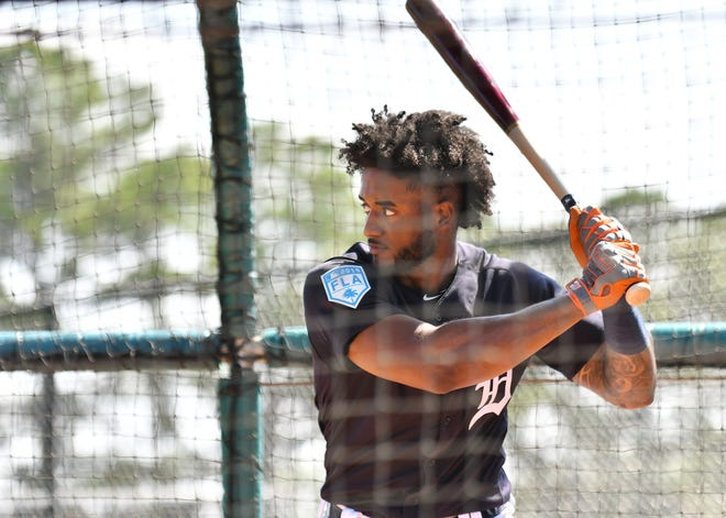 Tigers second baseman Niko Goodrum homered in the third inning.