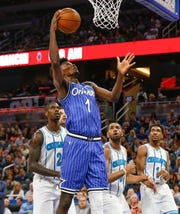 Orlando Magic power forward Jonathan Isaac had 16 points and six rebounds against the Charlotte Hornets at the Amway Center.